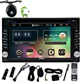6,2-Zoll-Universal-Quad-Core-2-Din Android 6.0 Eibisch Auto GPS-Stereoradio HD kapazitiver Touch Screen GPS-Navigations-DVD-CD-Player WiFi-Bluetooth Spiegel