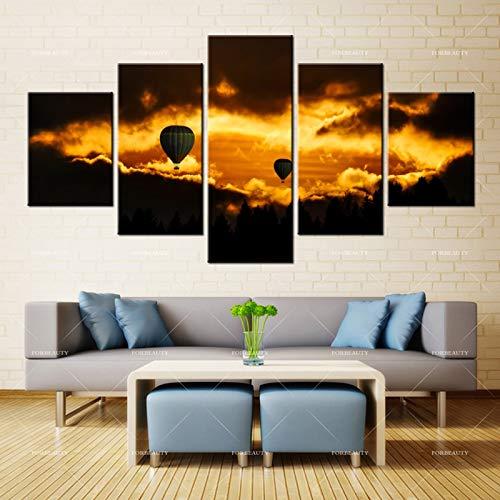 N / A Belleza Lienzo Pintura Mural Arte Viaje Globo aerostático impresión Tinta Impermeable decoración del hogar