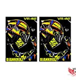 VITCIK Adhesivos para Cascos de Moto, calcomanías para Motos calcomanías de Vinilo, calcomanías Logo (VR 46)