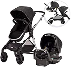 Evenflo Pivot Xpand, Single-to-Double Convertible Baby Stroller with Compact Folding design, Stallion Black