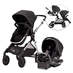 Multi Purpose Double Stroller: The Evenflo Pivot Xpand Modular Travel System is a parent-friendly single-to-double stroller designed with a unique slide-and-lock system that expands the frame to accommodate a second toddler or infant seat. Includes s...