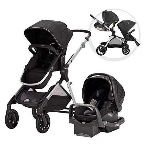 Evenflo Pivot Xpand Modular Travel System with SafeMax Infant Car Seat