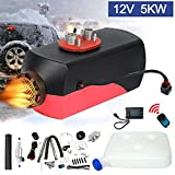 Triclicks 12V 5KW Air Diesel Heater Parking Heater Diesel Night Heater with Silencer LCD Switch Remote Control 10L Tank For Truck, Boat, Car Trailer, Motorhomes, Campervans, Caravas (Style 1)