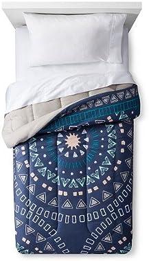 Room Essentials New Comforter Medallion Dark Blue Twin Extra Long