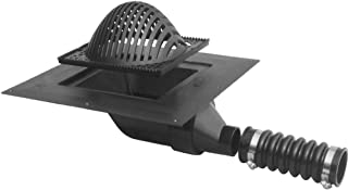 LSP T-0054 Plastic Roof Drain with 4-Inch Side Outlet