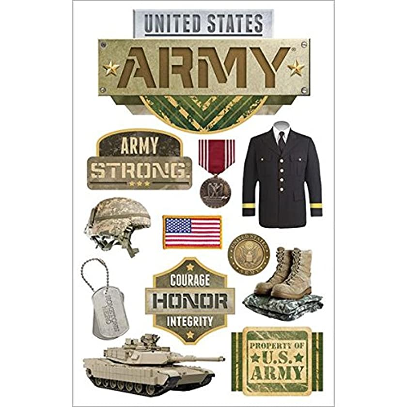 Paper House 3D Stickers, Army