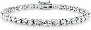 Cate & Chloe Kaylee 18k Tennis Bracelet, Women's 18k Gold Plated Tennis Bracelet w/Cubic Zirconia Crystals, 7