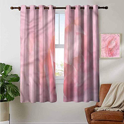 N / A Juego de 2 Paneles de Cortinas de Dormitorio Rosa pálido, Amor Inspirado en la Boda, Oscuridad Completa, Cortina Reductora de Ruido