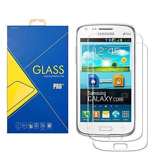 [2 Pack] Pellicola Vetro Temperato Samsung Galaxy Core GT-i8260 / 8260 - Schermo Antiurto Antigrafio