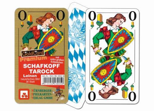 05319910502 - Nürnberger Spielkarten - Schafkopf eXtra Classic Premium Leinen, Bayerisches Bild im Klarsichtetui