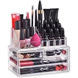 <span class='highlight'>Beautify</span> Clear Acrylic <span class='highlight'>Makeup</span> <span class='highlight'>Organiser</span> Storage Stand Display Table for Cosmetics, Nail Polish, Varnish, Stationary, Arts and Crafts, <span class='highlight'>Makeup</span> Brush Set Holder, Jewellery - 20 Sections with 4 Drawers