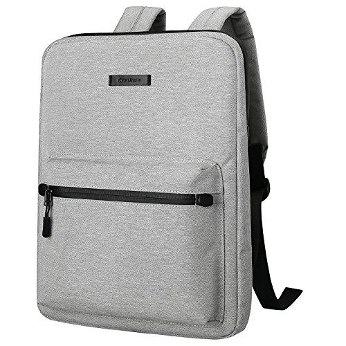 Ultra-Thin Laptop Backpacks, Cartinoe Canvas Lightweight Backpack for Girls School Rucksack Women Men College Bookbag, 13 14 15 inch Chromebook Laptop Bag for Macbook Touchbar 15 Pro Sleeve Case, Gray