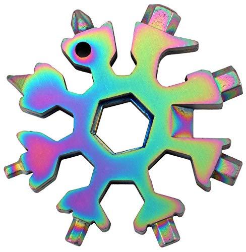 Geschenke für Männer - 18-in-1 Schneeflocken Multi-Tool, Gadgets für Männer, Weihnachtsgeschenke, Coole Werkzeug Kleine Geschenk für Männer, Papa, Frauen (Farbe)