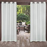 """Outdoor Curtain Garden Patio Gazebo Sunscreen Blackout Curtains, Thermal Insulated Curtains with Grommet   Waterproof& Windproof&UV-protection&Mildew Resistant (White Gold Color, 2 Panels 52"""" x 108"""")"""