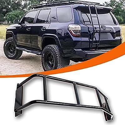 Universal Rear Ladder for Toyota 4Runner?Blcak Steel Durable 4runner Accessories