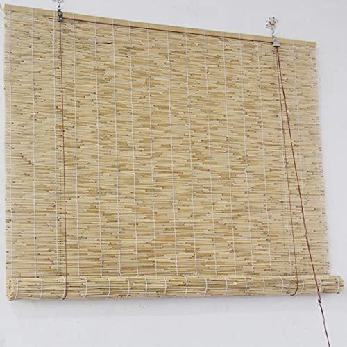 La cortina de caña natural, la cortina de paja antigua (utilizada para cubrir la decoración de la sala de estar y el salón de té) y el elevador, se pueden personalizar/A / 150×250cm