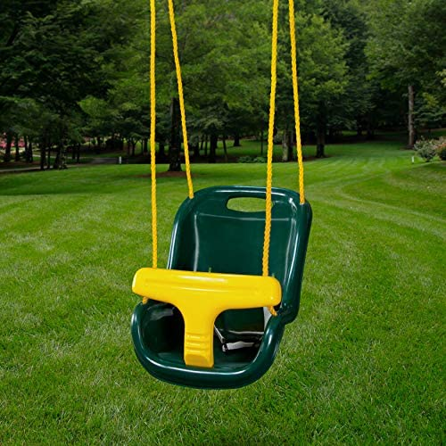 Plastic slide and swing set _image1