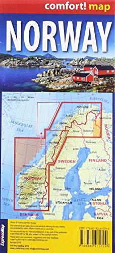 Noruega 1: 1.1000.000 plastificado: Norwegen (comfort! map)