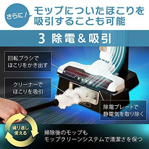 アイリスオーヤマ掃除機コードレスハンディサイクロンスティッククリーナー静電モップ・スタンド付き強力吸引軽量LEDライト付パワーヘッドダストカップ丸洗いOK2WAYすき間ノズルレッドIC-SLDCP10-R