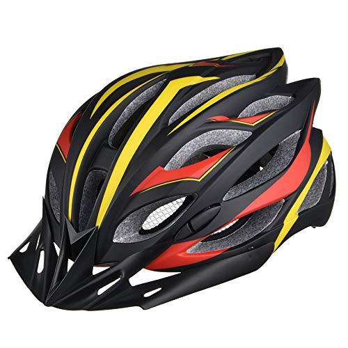 ILKJ Adulto Casco de Bicicleta con Desmontable Visera, Hombre Carretera Ciclismo Casco,...