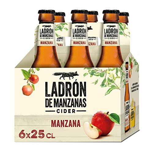 Ladrón de Manzanas Cider - Pack de 6 Botellas x 250 ml (Total: 1.5 L)