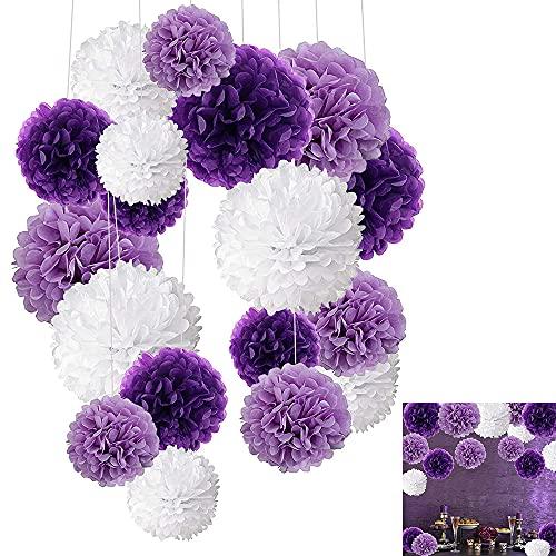 18 pompones de papel de seda para decoración de fiestas, bodas, baby shower, cumpleaños, diseño de panal