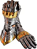 Queen Armour Medieval Articulated Gauntlets Gloves with Brass Work German Spartan Roman Helmet European Kettle Hate Viking Mask Barbuta Crusader Armour arms Italian Nasal Normal Pig Face Silver