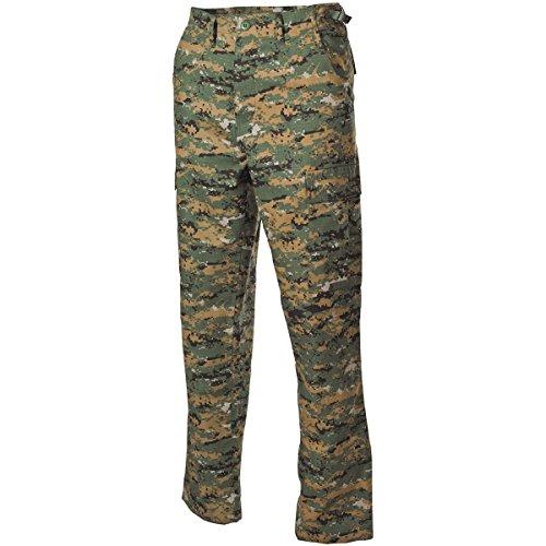 MFH BDU Combat Trousers Ripstop Digital Woodland Size XXL