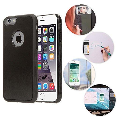 NALIA Antigravità Custodia compatibile con iPhone 6 6S, Protezione Ultra-Slim Anti-Gravity Selfie-Case Magica Auto-Adesivo Cellulare Cover Protettiva Telefono Bumper Sottile, Colore:Nero