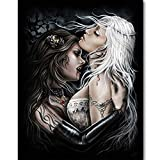 LHZBB Adouftwo 5d DIY Diamant malerei Vampir Diamant Stickerei voller diamanten Diamant mosaik kreuzstich Bild Wand
