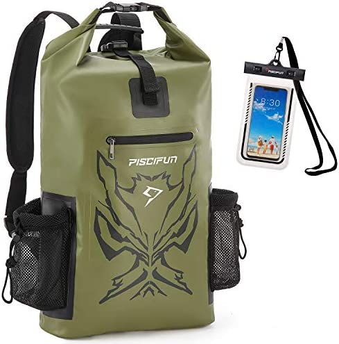 Piscifun Angry Face Dry Bag with Waterproof Phone Case Waterproof Dry Backpack for Men and Women product image