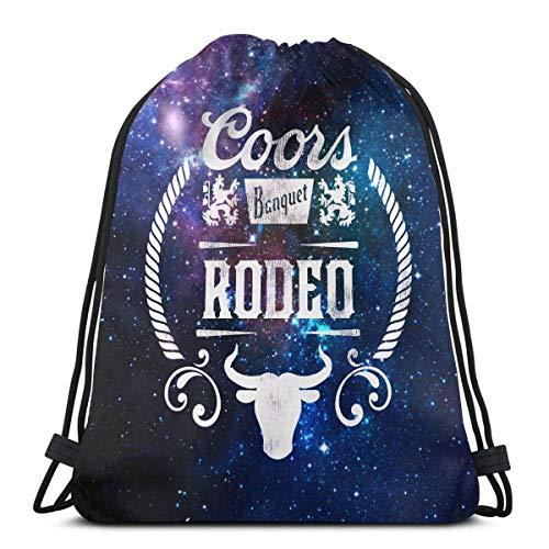HFXY Coors Banquet Rodeo Bolso con cordón Deporte Gimnasio Saco Compras Viaje...