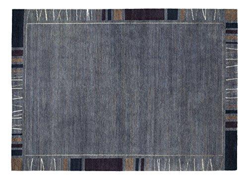 SANTA RAFFINATO echter original handgeknüpfter Nepal Teppich in dk.grau, Größe: 250x350 cm