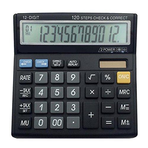 Multifunktionaler elektronischer Taschenrechner, 12-Bit-Tischrechner, Professionelle Finanzsteuerberechnung Multifunktionaler elektronischer Taschenrechner