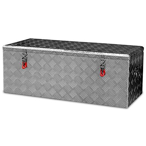 Alukiste Pick-Up Box Ladeflächenkiste Werkzeugkiste Alubox Deichselbox Staubox Anhängerkiste Gurtkiste - 2