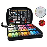 Sewing Kit 126 Pcs, Portable Travel Sewing Set for Adult, Professional Sewing Supplies Includes Needle, Thread, Ripper, Buttons, Thimble for DIY/Emergency/Beginner