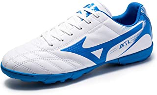 Men TF Football Shoes,Men Outdoor Turf Soccer Shoes Indoor Trainers Teens Wear-Resistant Non-Slip Shoes