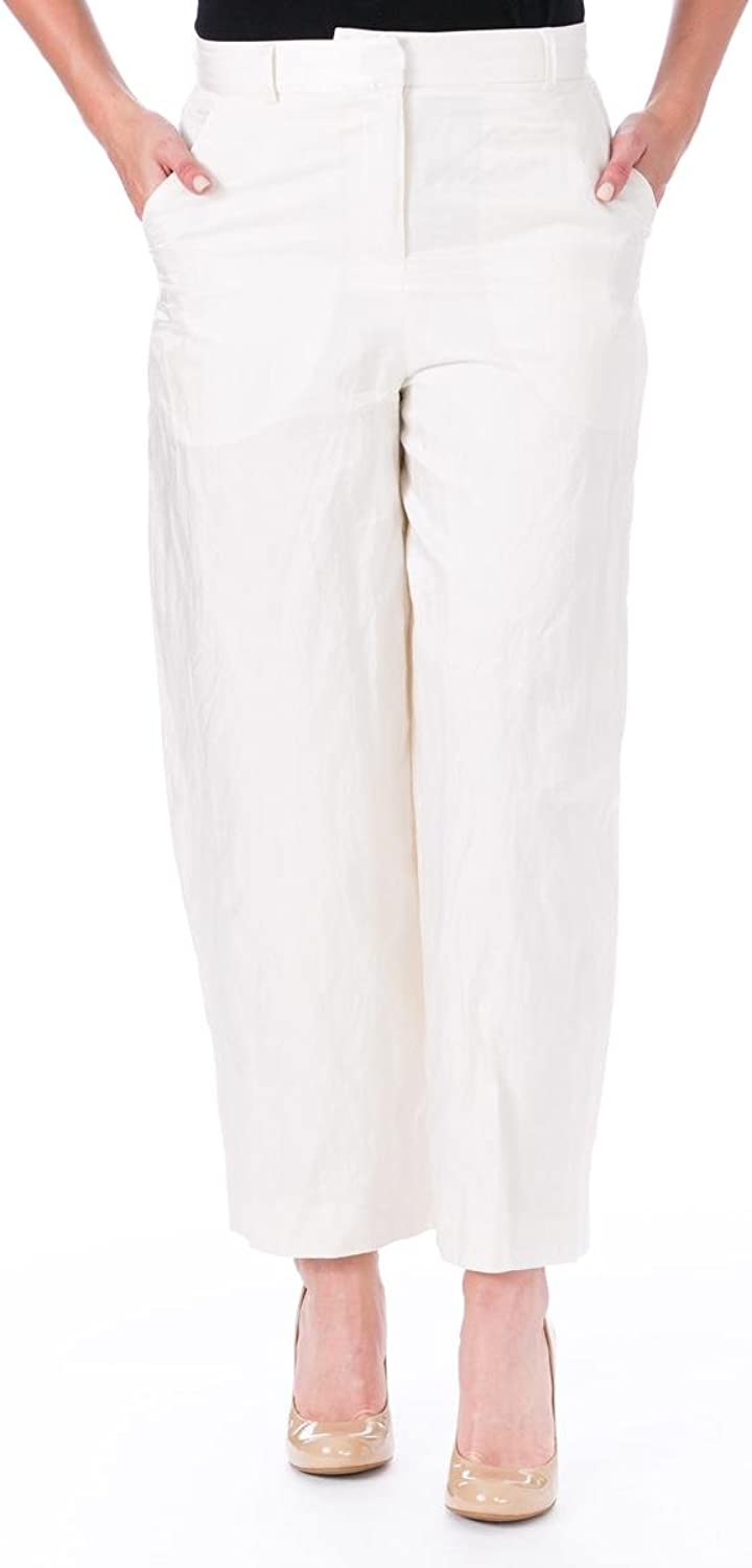 Elizabeth and James Womens Rumpled Ron Cropped Work Ankle Pants