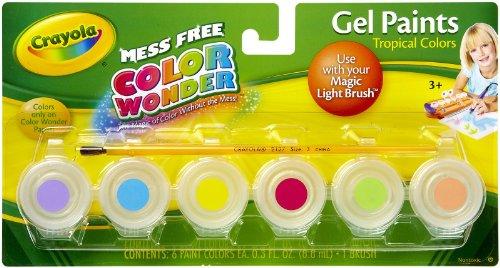Bestseller Crayola Color Wonder Gel Paint Palette Refills Tropical Hufutub