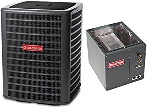 Goodman 3.5 Ton 16 Seer Air Conditioning System with 4-5 Ton Upflow/Downflow Evaporator Coil GSX160421 - CAPF4961C6
