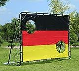 JHO Tec 213x152x76cm Fussballtor Fussball Fusballtor mit Torwand Fusball Garten Metall