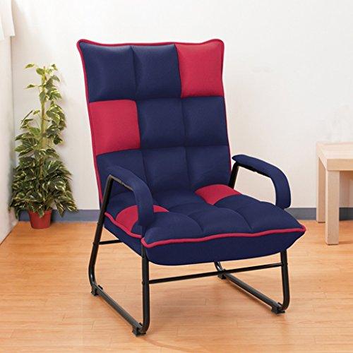 Lazy sofa Individu Fold Chaise Longue Tissu Chambre Lire Un Livre Loisirs Siège Moderne Simple Paresseux Canapé -LI Jing Shop (Couleur : Rose Rouge)