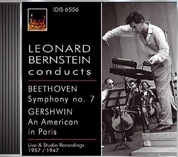 Beethoven, L. Van: Symphony No. 7 / Gershwin, G.: An American in Paris (Boston Symphony, Rca Victor Orchestra, Bernstein) (1957, 1957)