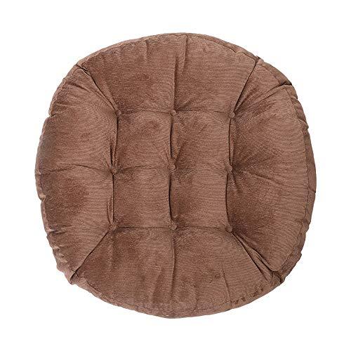 LUNANA kussen rond stoelkussen zitkussen hoekbank zitkussen bekleed zitkussen stoel voor uw eetkamer stoelen en banken zitkussen in natuur, 100% katoen, 58 x 58 cm