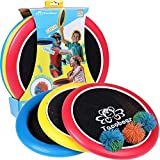 Lorfancy 3 Pcs Bouncy Flying Disk Paddle Ball Games Outdoor Sports Toss