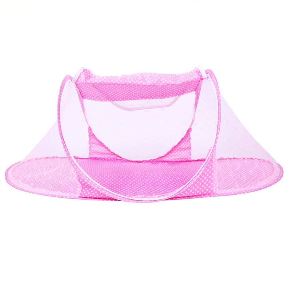 CdyBox Portable Travel Tent Pop Up Playpen Instant Mosquito Net (Pink)