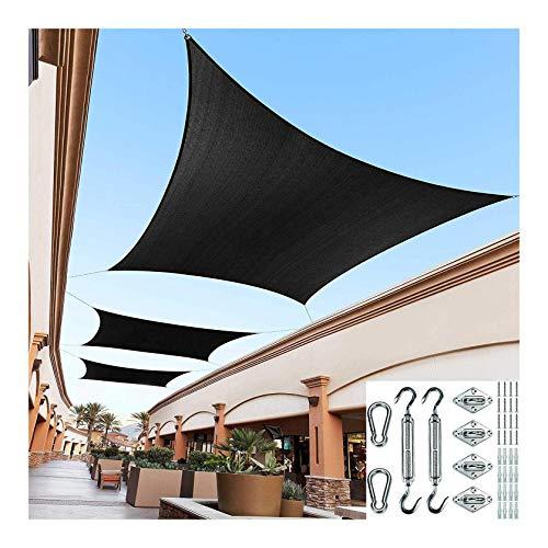 ZXSZX Parasol Vela Resistente Al Agua Al Aire Libre Jardín Patio Fiesta Protector Solar Toldo Toldo 98% Bloque UV, Permeable Al Agua/Aire,05-4 * 5M