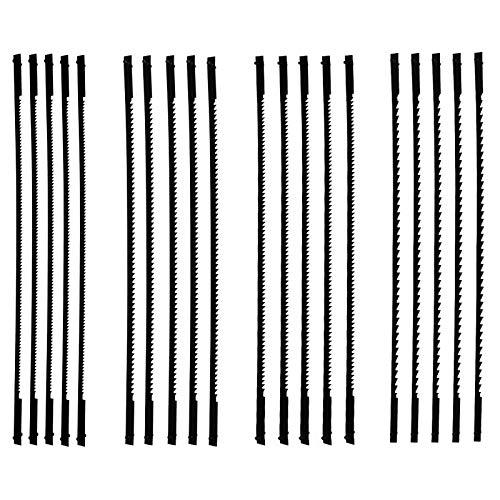 20 Pezzi Lama per Sega da Traforo da 127 mm Lame per Sega da Traforo a Taglio Fine con Perno 10 15 18 24 Denti Adatte per Seghe da Traforo per la Lavorazione del Legno
