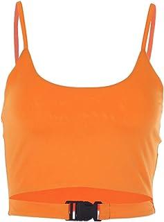 Mocure Metallic Reflective Crop Top Holographic Rave Tank Vest for Women