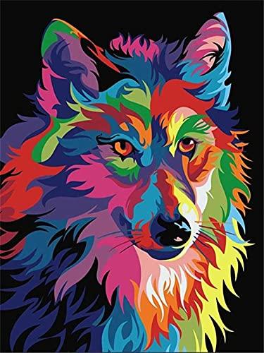 5D Diamond Painting Animal Set, Color, Lion, Round Diamond Embroidery, Mosaic Picture, Cross Stitch, DIY Decoration A4 40x50cm